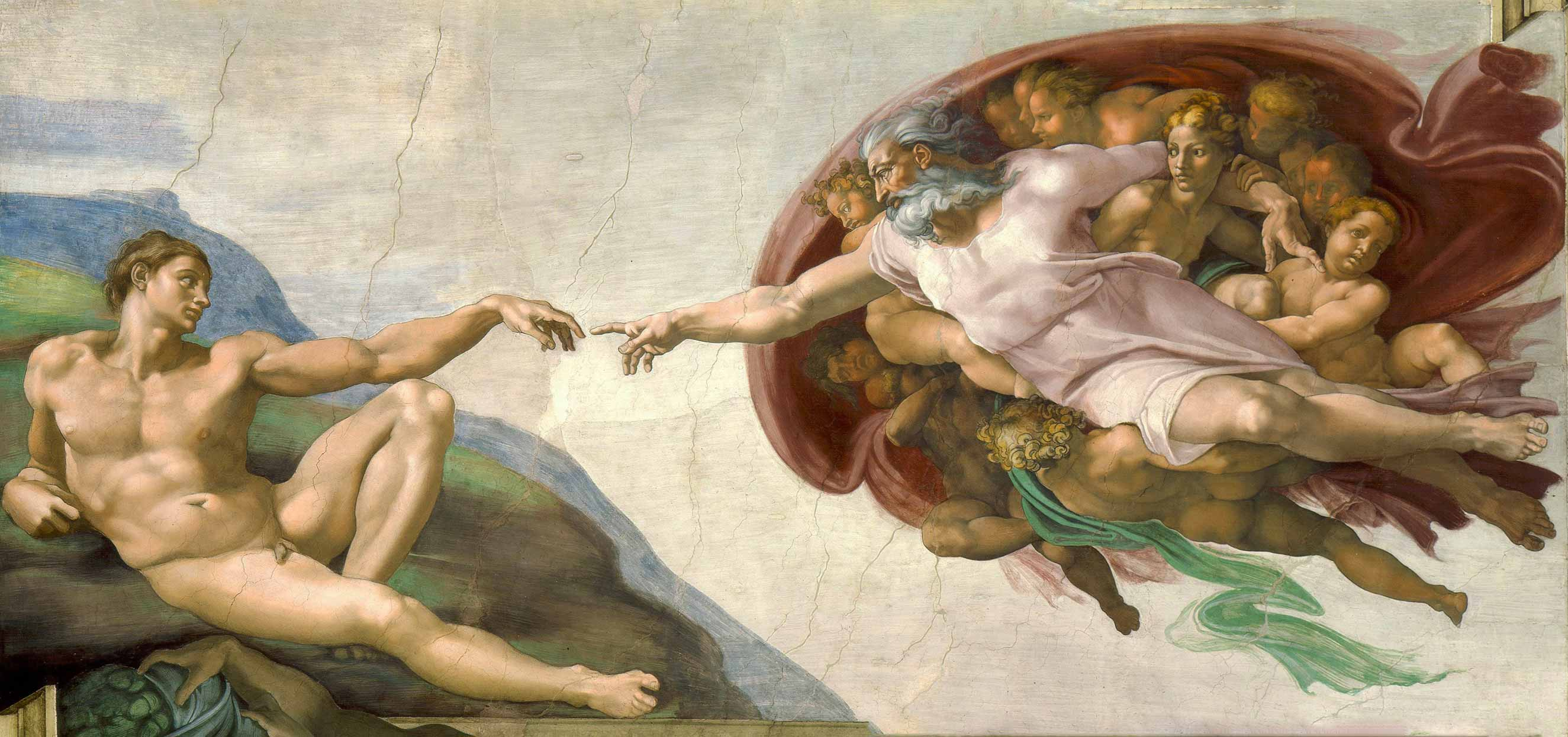 Michelangelo - God in the Cappella Sistina